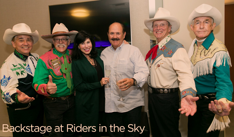 Backstage at Riders in the Sky